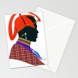 massai warrior digital design zollione shop Stationery Cards