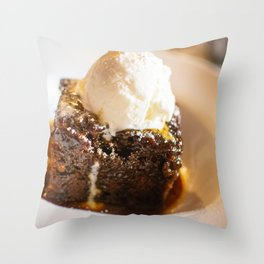 Sticky toffee pudding and ice-cream Throw Pillow