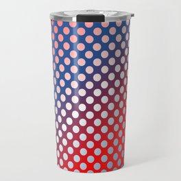 silver polka dots Travel Mug