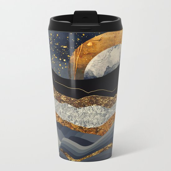 Metallic Mountains Metal Travel Mug