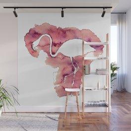 Watercolor Flamingo Wall Mural