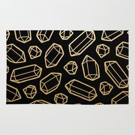 Black & Gold Crystal Pattern Rug