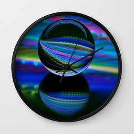 All colours in the glass ball Wall Clock