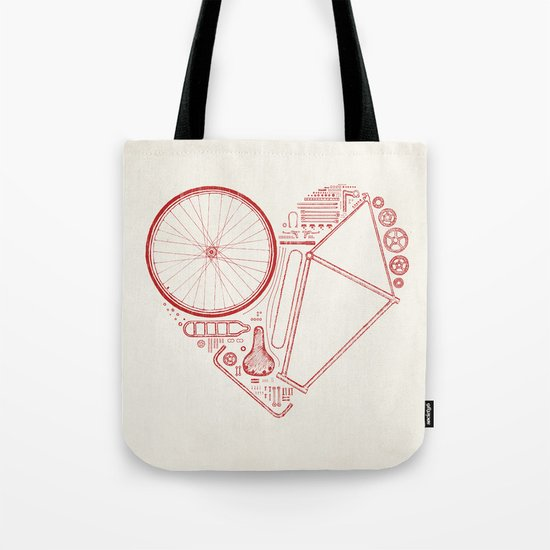 Love Bike Tote Bag