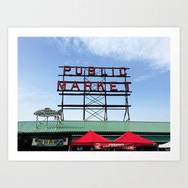 Public Market Seattle Washington, Original Fine Art Photography Architecture Home Decor Gift Icon Art Print