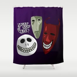 Kidnap Mr Sandy Claws? Shower Curtain