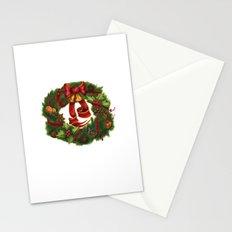 Christmas wreath. Art nouveau. Stationery Cards
