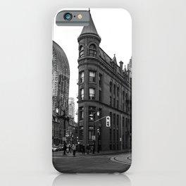 Gooderham building Toronto city Black and white iPhone Case