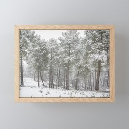 Into the snowstorm. Felling free the mountains.... Framed Mini Art Print