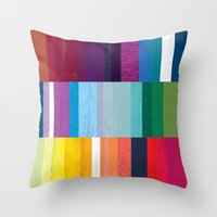 stripes Throw Pillows featuring Stripes by Kakel