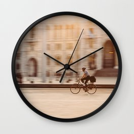 Riding in Budapest Wall Clock