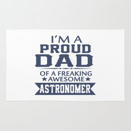 I'M A PROUD ASTRONOMER'S DAD Rug