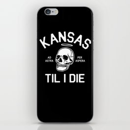 Kansas Til I Die iPhone Skin