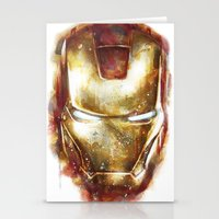 iron man Stationery Cards featuring Iron Man by beart24