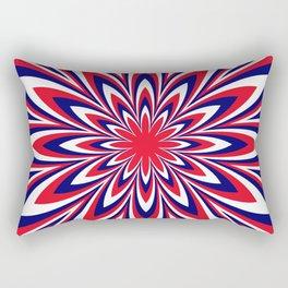 Fourth of July Flower Rectangular Pillow