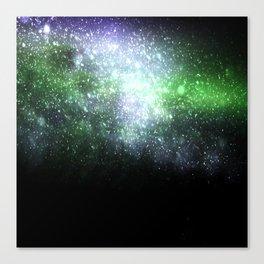 Falling sparkles Canvas Print