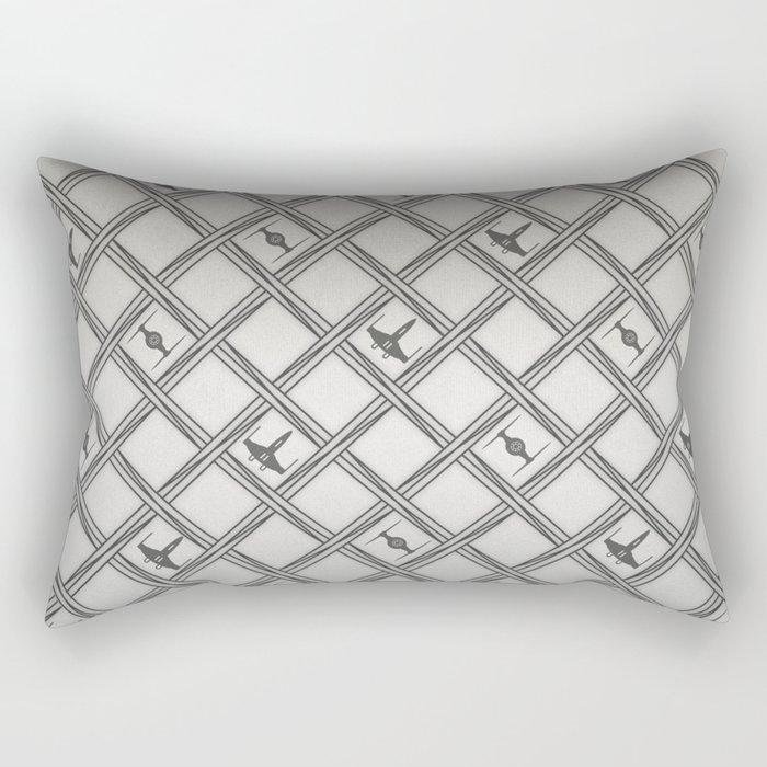 X Wing TIE Fighter Pattern Rectangular Pillow