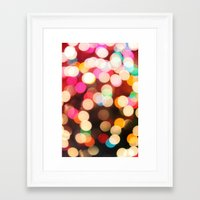 bokeh Framed Art Prints featuring Bokeh by Christine VanFonda