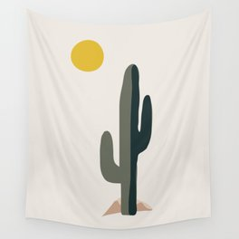 Cactus and the Rising Sun Wall Tapestry