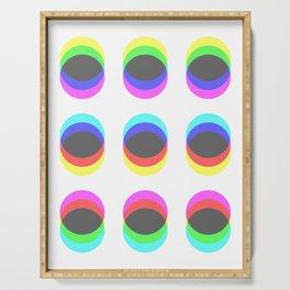 CMYK in RGB Circles Serving Tray