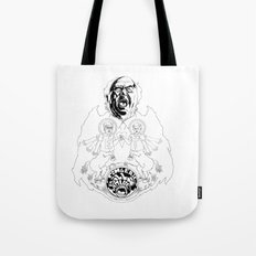 Two Horses, Tim and Eric (B&W) Tote Bag