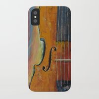 violin iPhone & iPod Cases featuring Violin by Michael Creese