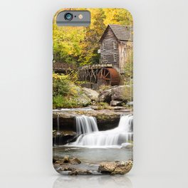 USA water mill Glade Creek Grist Mill, Babcock State Park, West Virginia Autumn Nature Waterfalls Rivers Watermill river iPhone Case