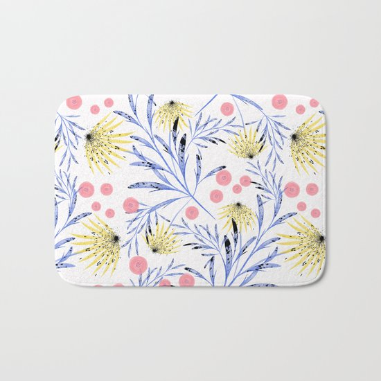 Abstract floral pattern. Bath Mat