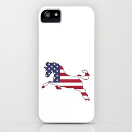"Horse ""American Flag"" iPhone Case"
