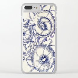 FIVE TWIRLS Clear iPhone Case