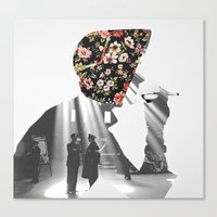 smoking Canvas Prints featuring Smoking by Mrs Araneae