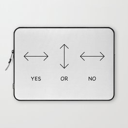 Yes or No Quetsions Laptop Sleeve