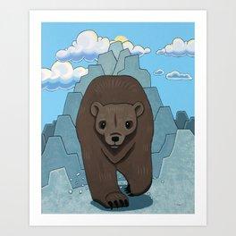 Bear Run Art Print