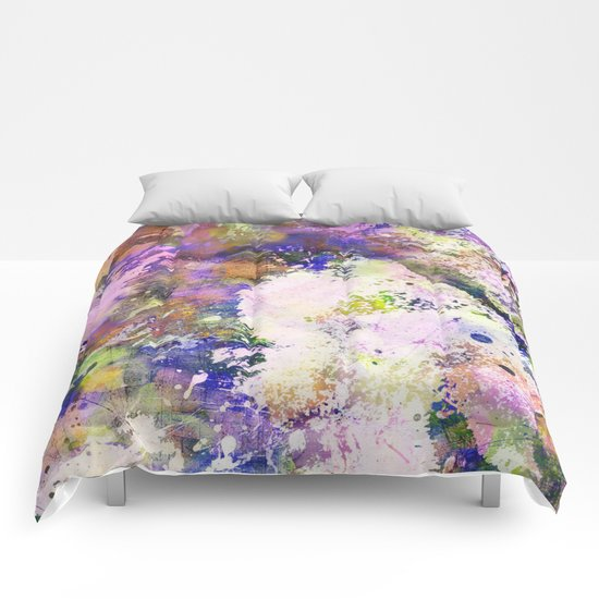 Colour Turmoil - Abstract Multicoloured Painting Comforters