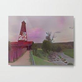 Water Pumping Tower Metal Print