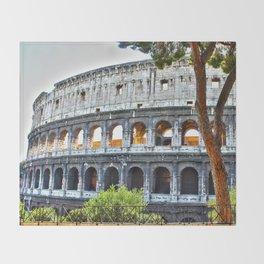 Roman Coloseum Throw Blanket