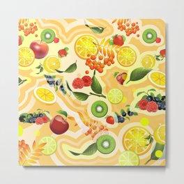 Mixed Fruit 2 Metal Print