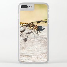 Hello Dragonfly Clear iPhone Case