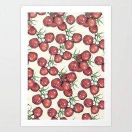 Tomato Illustrative Pattern Art Print