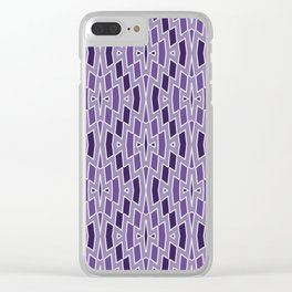Fragmented Diamond Pattern in Violet Clear iPhone Case