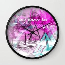 Modern Art ONE SUMMER Wall Clock