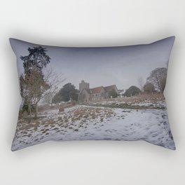 Boughton Church In Winter Rectangular Pillow