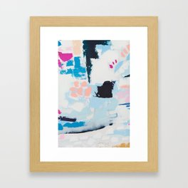 BECKETT 6 // ABSTRACT MIXED MEDIA ART ON CANVAS Framed Art Print