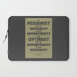 Pessimist / Optimist Laptop Sleeve