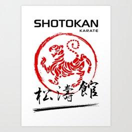 Shotokan Karate Tiger Art Print