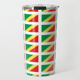 Flag of congo -congolais,congolaise,congolese,brazzaville,kongo,sangha,teke, m'bochi Travel Mug
