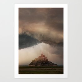 Cloudy afternoon in northern France Art Print