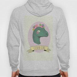 Clever Girl Dinosaur / Jurassic Park / Gift for Her / Boho Baby Animal Nursery Decor / Feminist Hoody