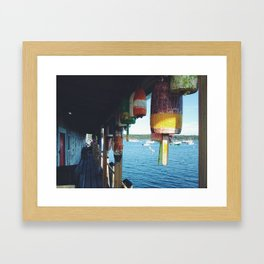Found Buoys Framed Art Print
