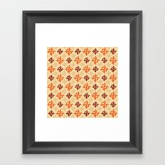 Fall Diamonds Framed Art Print